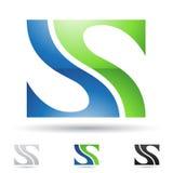 Abstrakcjonistyczna ikona dla listowego S ilustracji