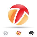 Abstrakcjonistyczna ikona dla listu T Obrazy Stock