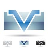 Abstrakcjonistyczna ikona dla listu V Zdjęcie Stock