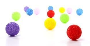 Abstrakcjonistyczna ilustracja Kolorowe piłki Obraz Stock