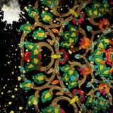 Abstrakcjonistyczna ilustracja kolorowy wzór royalty ilustracja