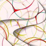 Abstrakcjonistyczna ilustracja, kolorowy zawijasa skład. Zdjęcie Royalty Free