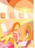 Abstrakcjonistyczna ilustracja o podróży Zdjęcia Stock