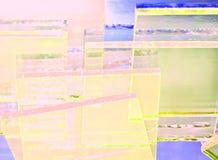 Abstrakcjonistyczna ilustracja przejrzysty barwiony szkło ilustracji