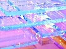 Abstrakcjonistyczna ilustracja przejrzysty barwiony szkło obrazy stock