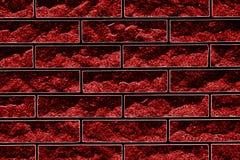 Abstrakcjonistyczna ilustracja w postaci ceglanej kamieniarstwo kombinacji czerwień i czerń ilustracji