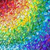 Abstrakcjonistyczna ilustracja w stylu witrażu, imitacja barwił szkła Zdjęcie Stock