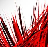 Abstrakcjonistyczna ilustracja z dynamicznymi grungy liniami Textured czerwieni pa royalty ilustracja