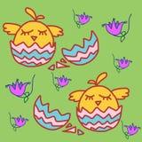 Abstrakcjonistyczna ilustracja z jajkami Zdjęcia Royalty Free