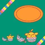 Abstrakcjonistyczna ilustracja z kurczakiem Fotografia Stock