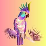Abstrakcjonistyczna jaskrawa ary papuga ilustracji