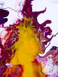 Abstrakcjonistyczna jaskrawa ręka malujący tło Zdjęcie Stock