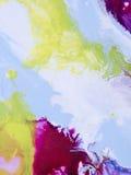 Abstrakcjonistyczna jaskrawa ręka malujący tło Obraz Stock
