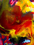 Abstrakcjonistyczna jaskrawa ręka malujący tło Fotografia Royalty Free