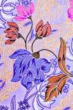 Abstrakcjonistyczna jaskrawa tkanina w batik& x27; s technika Obraz Royalty Free