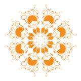 Abstrakcjonistyczna kółkowa ornament pomarańcze ilustracji