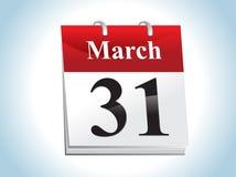 abstrakcjonistyczna kalendarzowa glansowana ikona Fotografia Stock