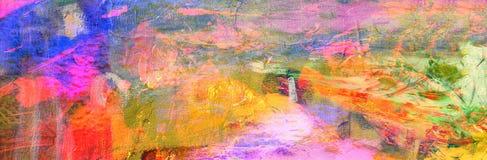abstrakcjonistyczna kanwa Obraz Royalty Free