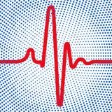 Abstrakcjonistyczna kardiogram ikona ilustracji