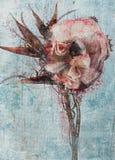 abstrakcjonistyczna karty etc kwiatu ilustracja wiele fotografie interliniuje teksta kolor żółty ty Zdjęcia Stock