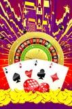 Abstrakcjonistyczna kasynowa ilustracja Royalty Ilustracja