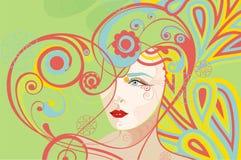 abstrakcjonistyczna kierowa kobieta Zdjęcie Stock