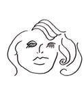 abstrakcjonistyczna kobieta Obrazy Stock