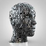 Abstrakcjonistyczna kobiety głowa ilustracja wektor