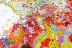 Abstrakcjonistyczna kolor palety Akrylowa Nafciana farba Abstrakcjonistyczna sztuka Paintin Obrazy Royalty Free