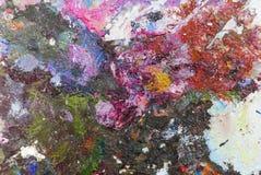 Abstrakcjonistyczna kolor palety Akrylowa Nafciana farba Abstrakcjonistyczna sztuka Paintin Zdjęcia Stock