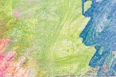 Abstrakcjonistyczna kolorowa akwarela malował na grunge betonowej ściany bac Zdjęcie Stock