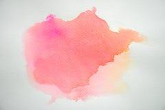 Abstrakcjonistyczna kolorowa akwarela na białego papieru tle Obraz Stock