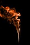 Abstrakcjonistyczna kolorowa dymna kolor pomarańcze Obraz Royalty Free