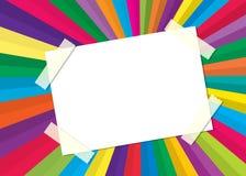 Abstrakcjonistyczna kolorowa etykietka ilustracja wektor