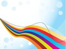 abstrakcjonistyczna kolorowa fala Zdjęcia Stock