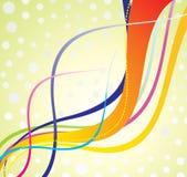 abstrakcjonistyczna kolorowa fala Fotografia Royalty Free