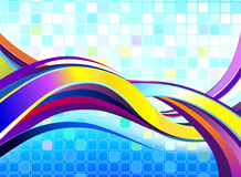 abstrakcjonistyczna kolorowa fala Obraz Royalty Free