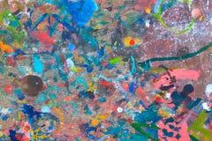 abstrakcjonistyczna kolorowa farba Zdjęcie Royalty Free