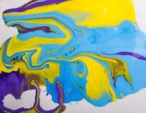 abstrakcjonistyczna kolorowa farba Fotografia Royalty Free
