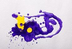 abstrakcjonistyczna kolorowa farba Obraz Royalty Free