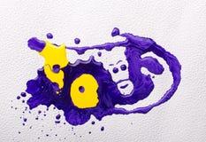 abstrakcjonistyczna kolorowa farba Obrazy Royalty Free