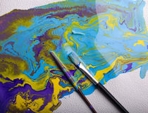 abstrakcjonistyczna kolorowa farba Obrazy Stock