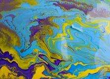 abstrakcjonistyczna kolorowa farba Fotografia Stock
