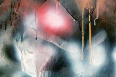 Abstrakcjonistyczna kolorowa malująca tekstura na ścianie Tło dla projekta Zdjęcie Royalty Free