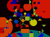Abstrakcjonistyczna kolorowa mozaika Zdjęcia Royalty Free