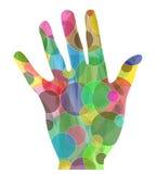 Abstrakcjonistyczna kolorowa ręka Obraz Stock