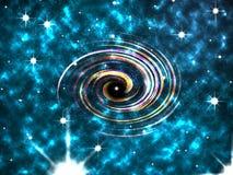 Abstrakcjonistyczna kolorowa spirala, mgławica, gra główna rolę obraz stock