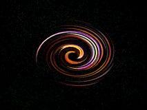 Abstrakcjonistyczna kolorowa spirala, mgławica, gwiazda obrazy royalty free