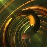 Abstrakcjonistyczna kolorowa spirala na ciemnym tle świadczenia 3 d Fotografia Stock