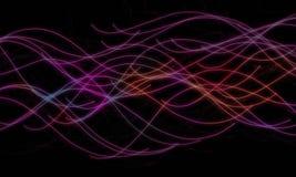 Abstrakcjonistyczna kolorowa tło fala Obraz Stock